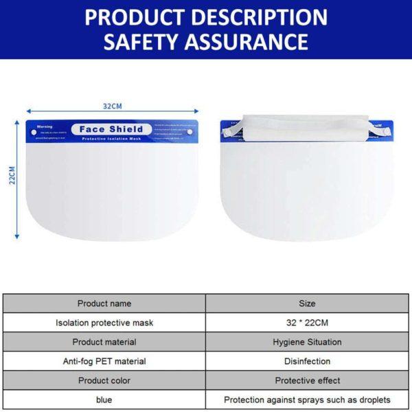 10 Pcs PMEDI Face Shield Anti-Fog 5