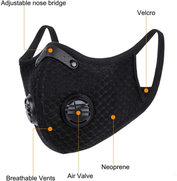 Mesh Sports Mask with Replaceable KN95 Filter - Free Shipping 2
