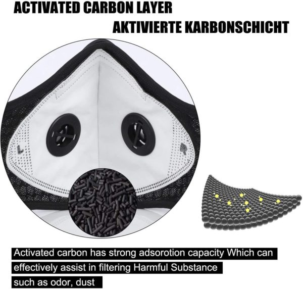 Mesh Sports Mask with Replaceable KN95 Filter - Free Shipping 7