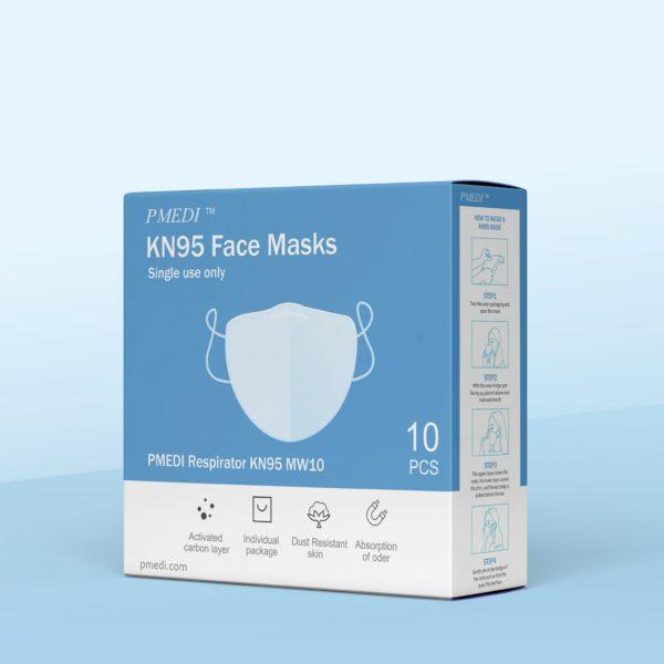 10 Pcs PMedi KN95 Respirator Face Masks - Free Shipping - PMedi.com