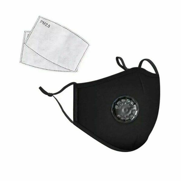 Pmedi PM2.5 Reusable Cotton Face Mask Black
