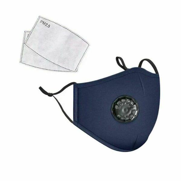 Pmedi PM2.5 Reusable Cotton Face Mask Blue