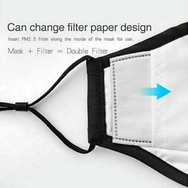 Protective Face Covering With 2 PM2.5 Filters - Free Shipping 6