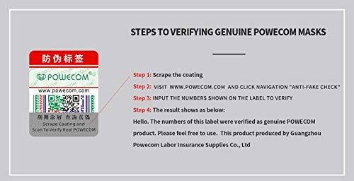 Powecom KN95 Face Mask Protective Masks EUA Authorized - 10 pc 6