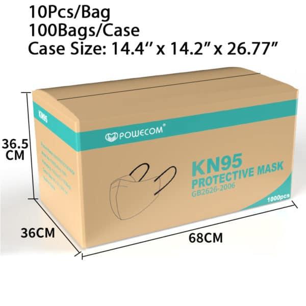 Powecom KN95 Face Mask Protective Masks EUA Authorized - 10 pc 5
