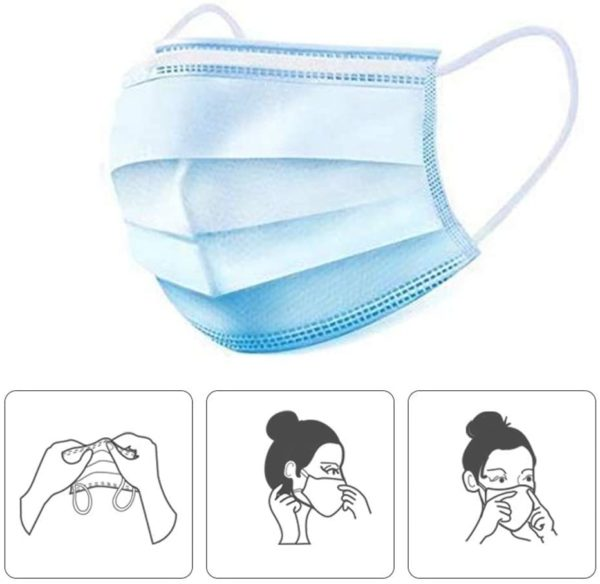 PMEDI ASTM Level 2 Surgical Mask Disposable 3-Layer (Packs of 10 or 50) - Free Shipping 6