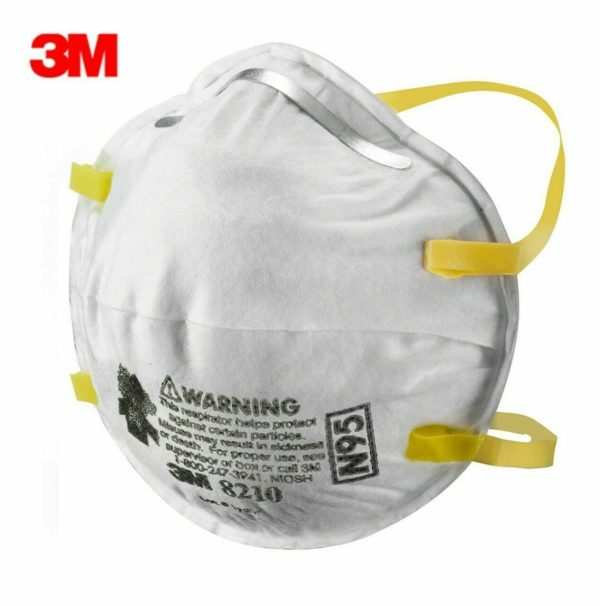 3M 8210 N95 Particulate Respirator Mask (Box of 20) EXP09/2025 (Made in USA)